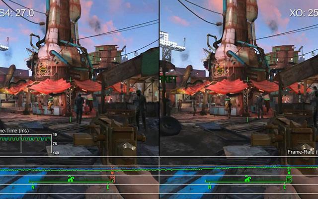 《輻射4》X1與PS4幀數實測視頻