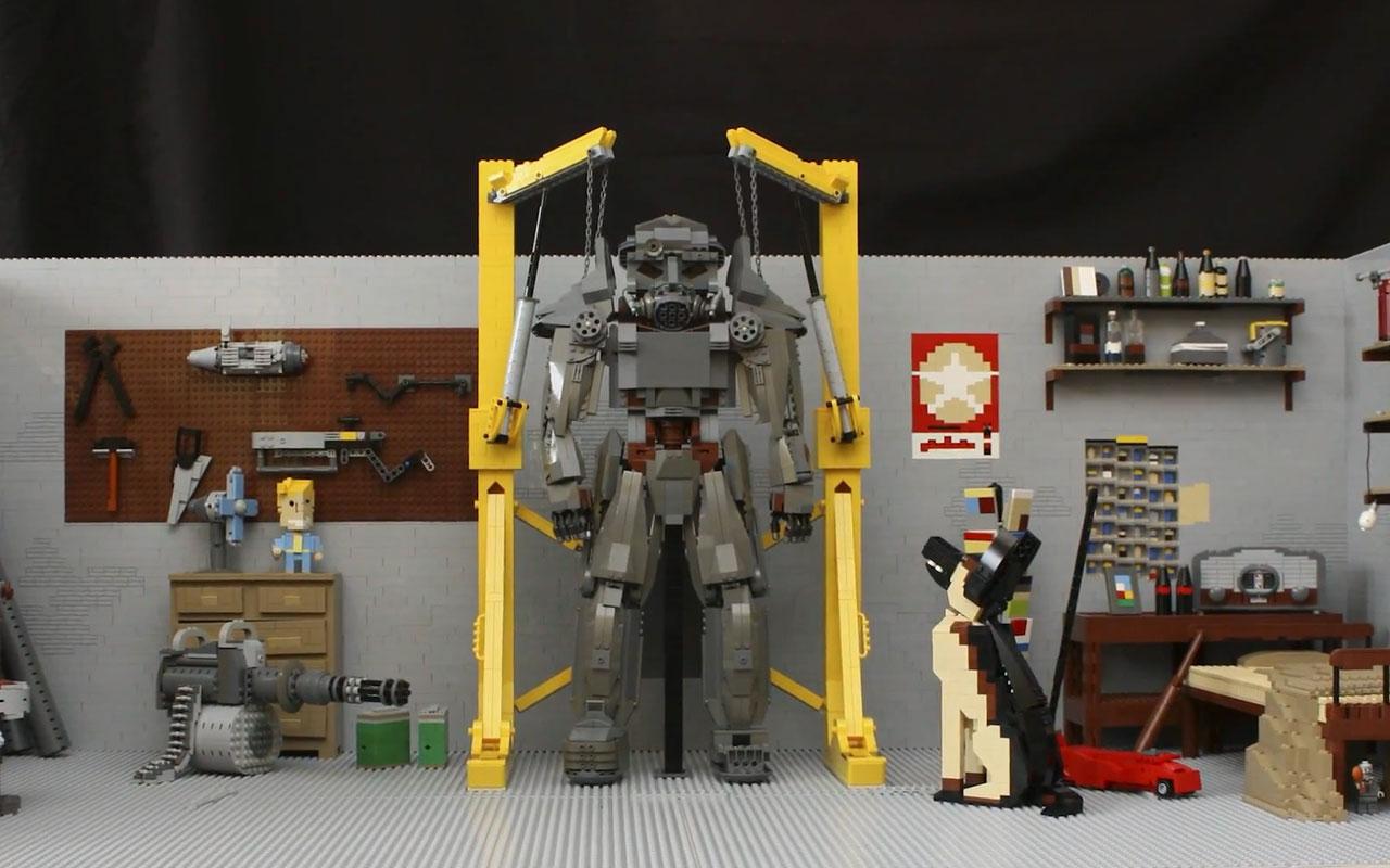 大師用2萬塊樂高打造《輻射4》車庫場景