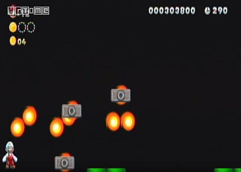 """""""新超马u""""中隐藏未用的素材,旋转火球环绕的平台"""