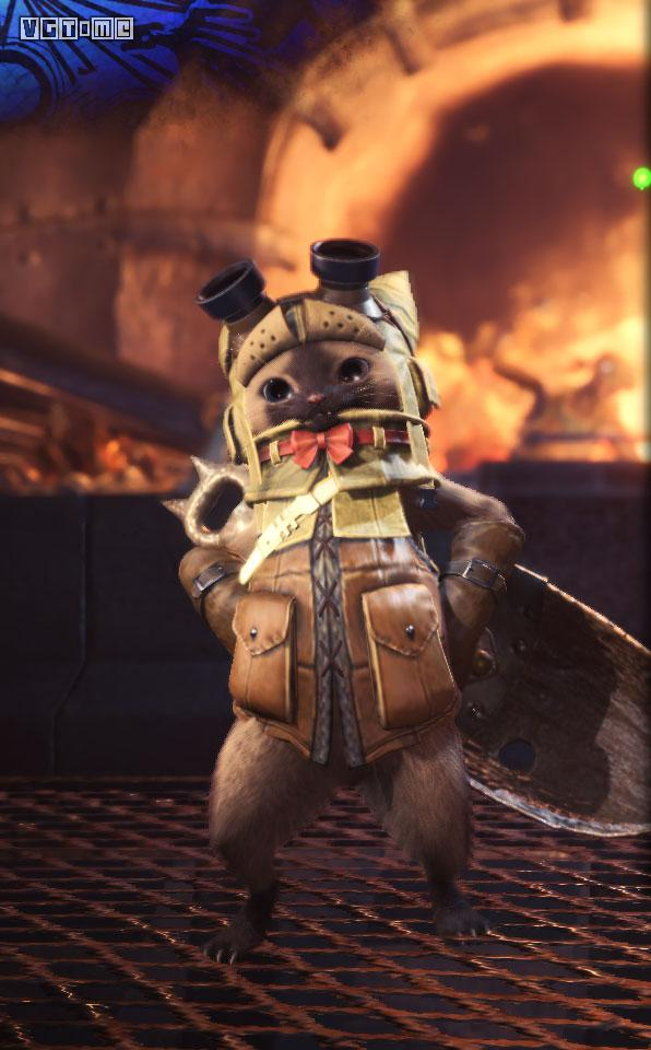 游戏资讯_《怪物猎人 世界》随从猫全套装外观图鉴 - vgtime.com