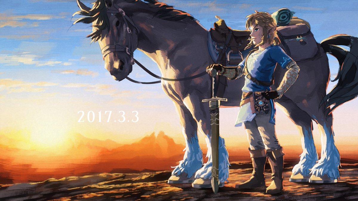 发售一周年,任天堂放出《塞尔达传说:旷野之息》贺图