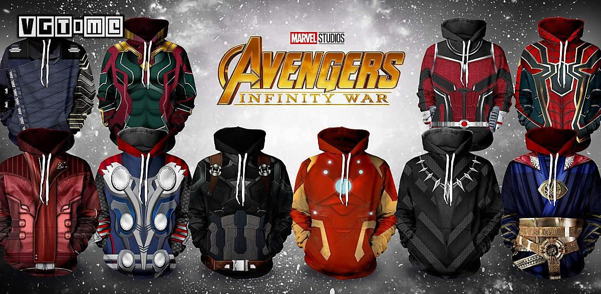 Put on this group of hoodies, you can also become more diffuse super hero