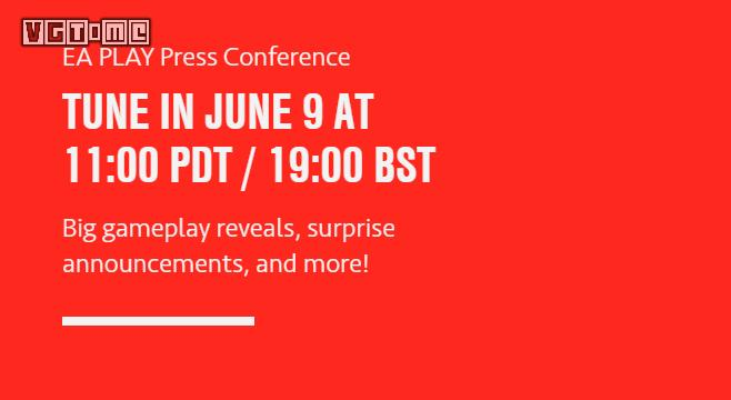 More new news EA PLAY pre-show conference is scheduled for June 9