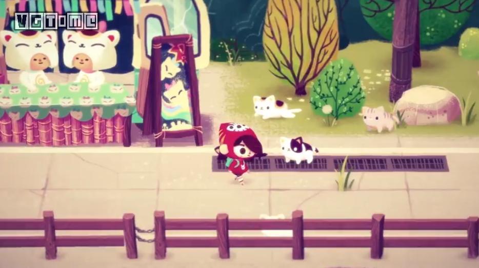 一个由《动物之森》启发的游戏,玩家扮演 mineko 来到一个「猫岛」