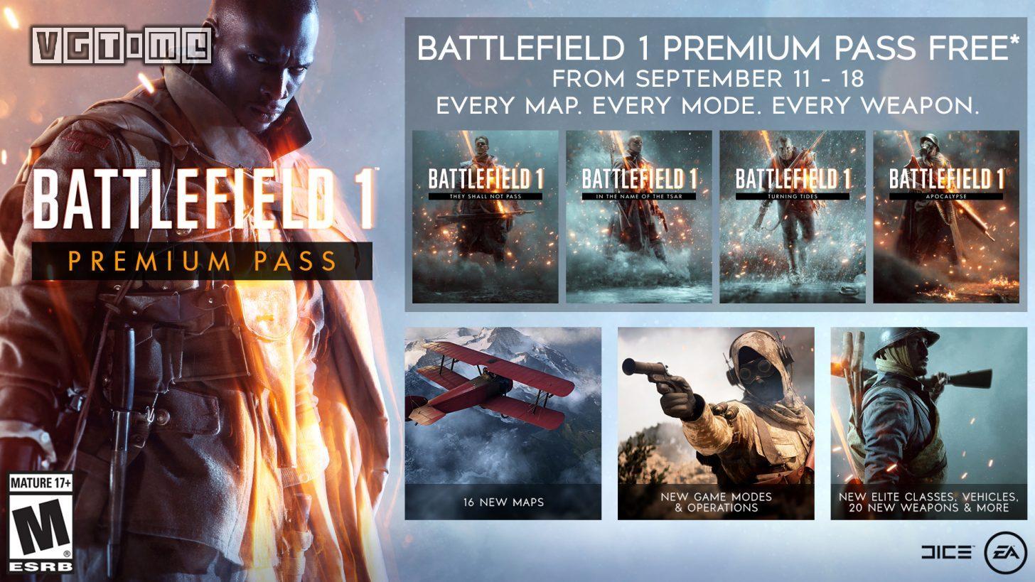 《战地1》高级通行证现已在全平台开启限时免费
