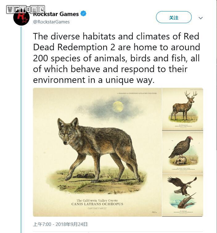 《荒野大镖客 救赎2》中有200种动物 包含钓鱼系统