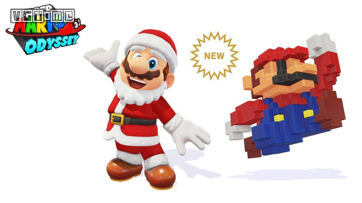 《超级马力欧 奥德赛》推出圣诞老人和8-Bit服装