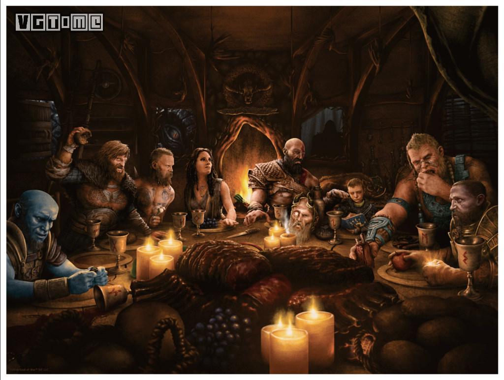 这幅精美的《战神》挂画,也许能让你感受到冬日的温暖