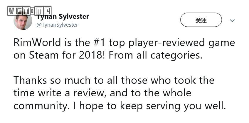 Steam evaluation in 2018 top 10 game,