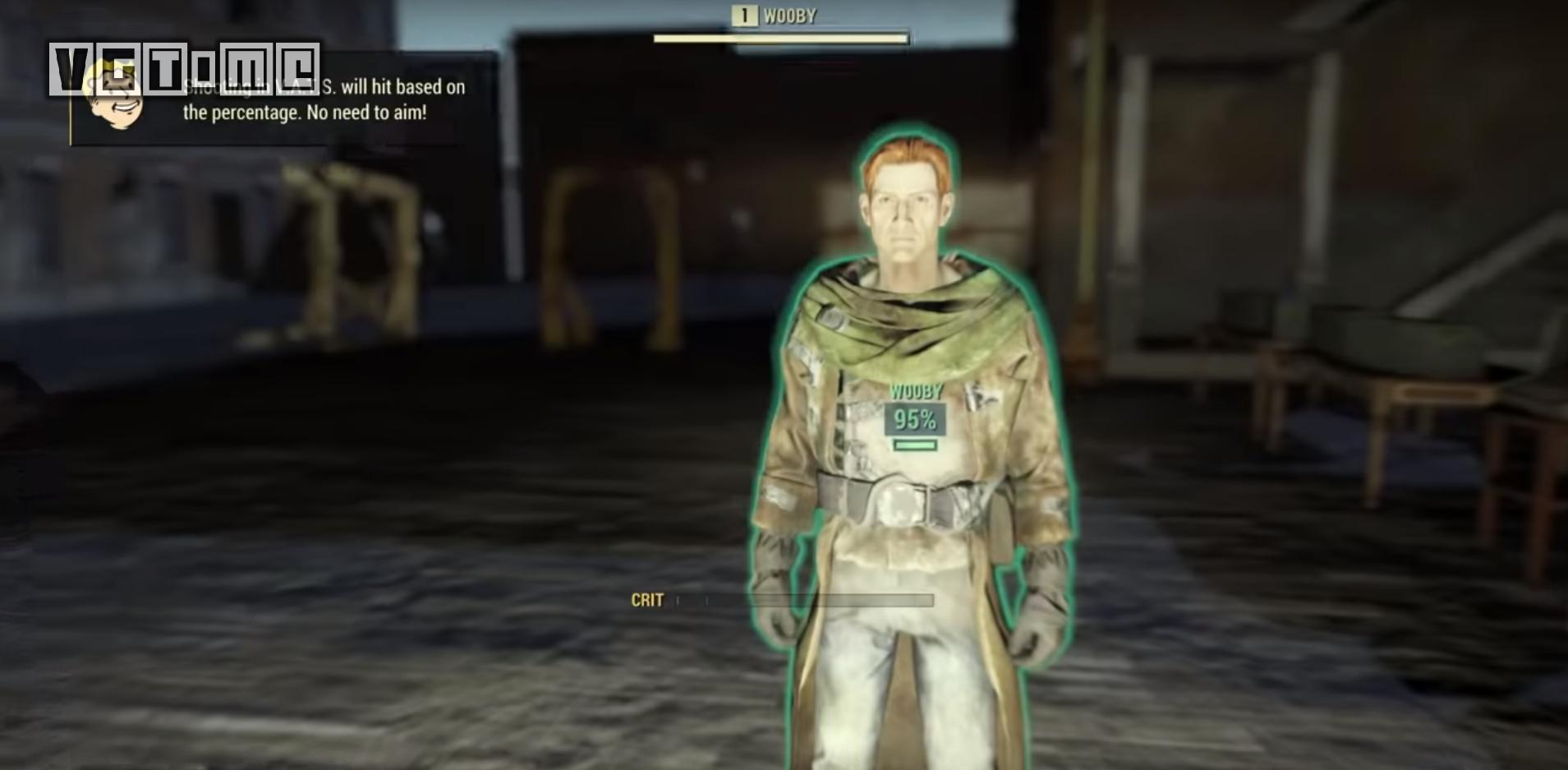 在《辐射76》的秘密房间中,有人发现了人类NPC