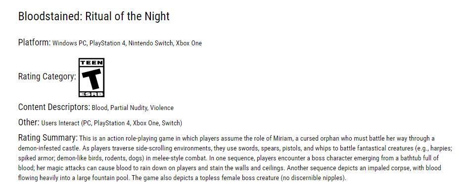 《血污:夜之仪式》通过ESRB评级:T级(13+)