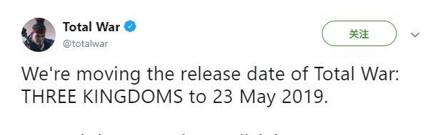 《全面战争:三国》发售日延期至5月23日