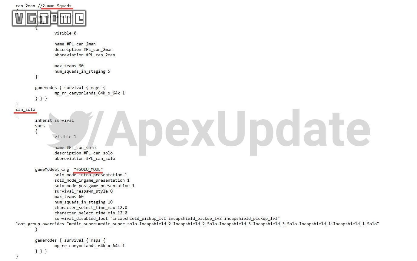 《Apex必威betway866》或将加入单排/双排模式 首年更新计划公布