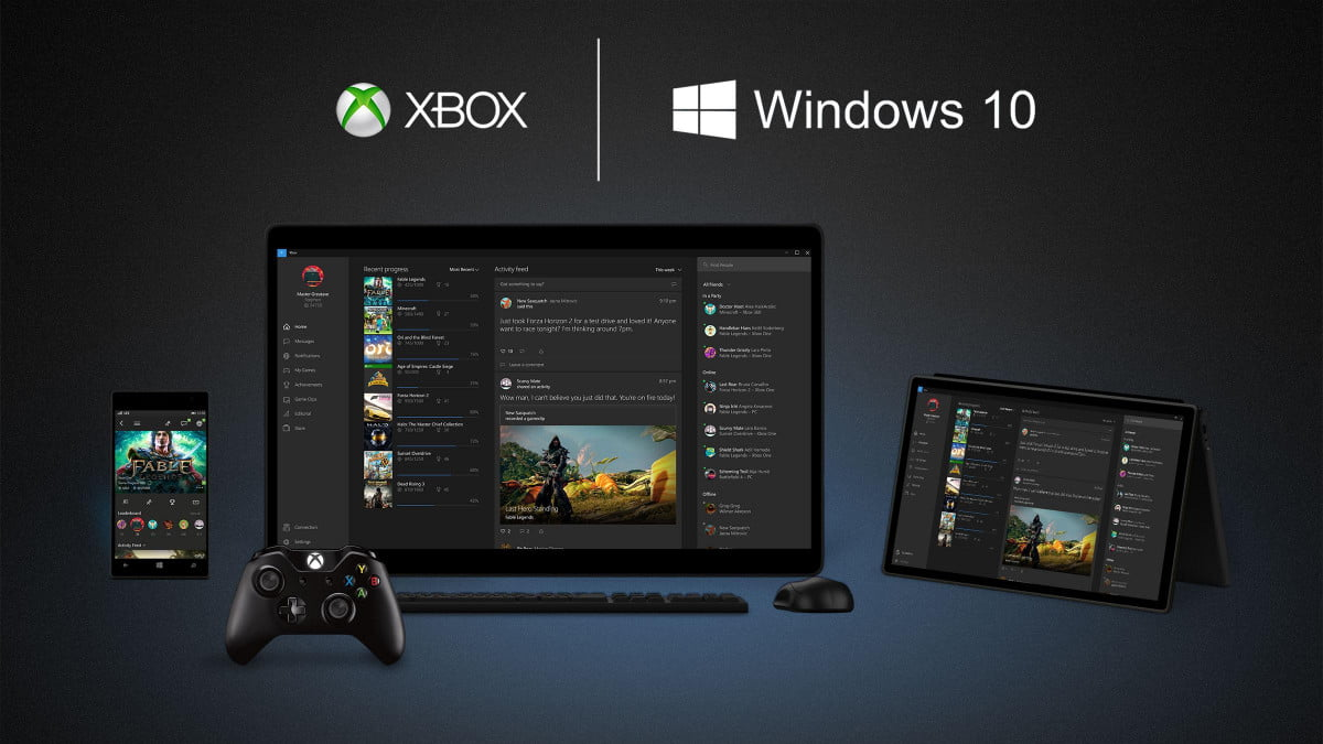 More evidence that Microsoft hopes to run directly on the Win10 Xbox game One