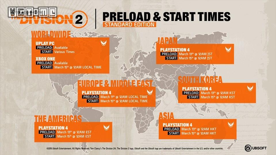 《全境封锁2》预载、开放时间和所需硬盘空间公布