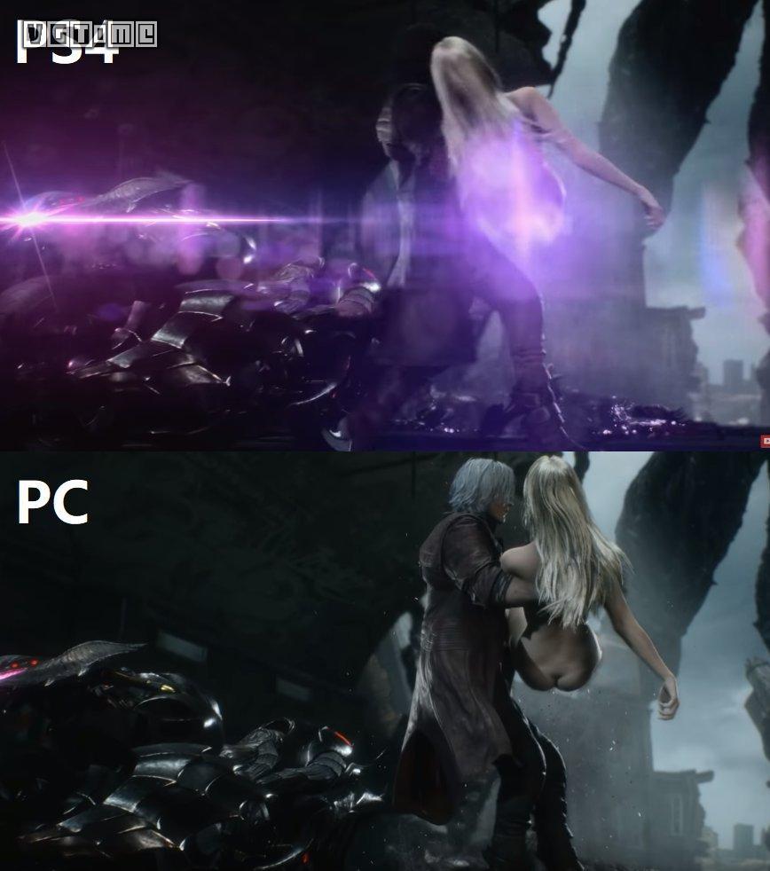 补丁后,PS4港版/美版《鬼泣5》 惨遭圣光和谐
