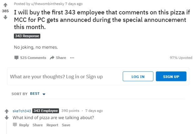 343工作室:请不要再给我们寄披萨了
