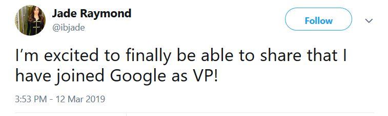 婕德·雷蒙德,这位betway官网手机版业老兵现在是谷歌副总裁了