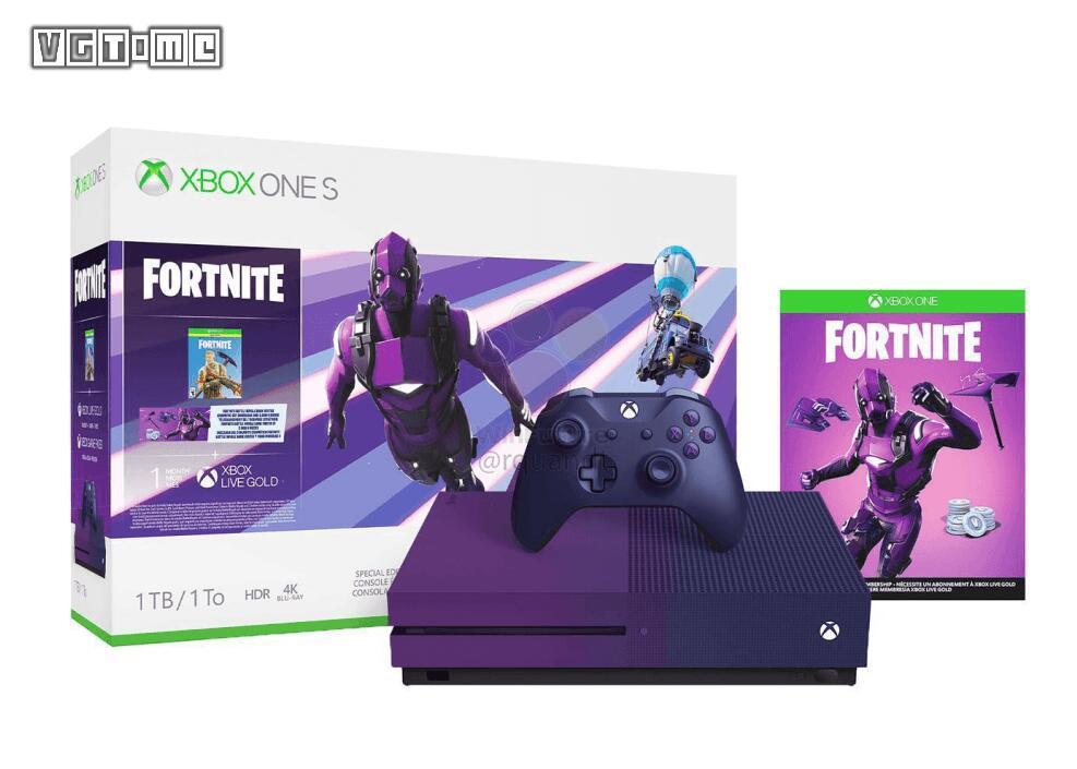 《堡垒之夜》紫色渐变款Xbox One S泄露