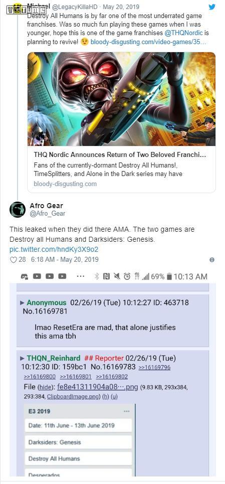 传闻:《暗黑血统》《毁灭全人类!》新作将于E3公布
