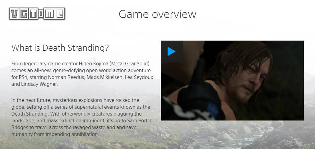 《死亡搁浅》游戏特性介绍:它没有传统的「游?#26041;?#26463;」