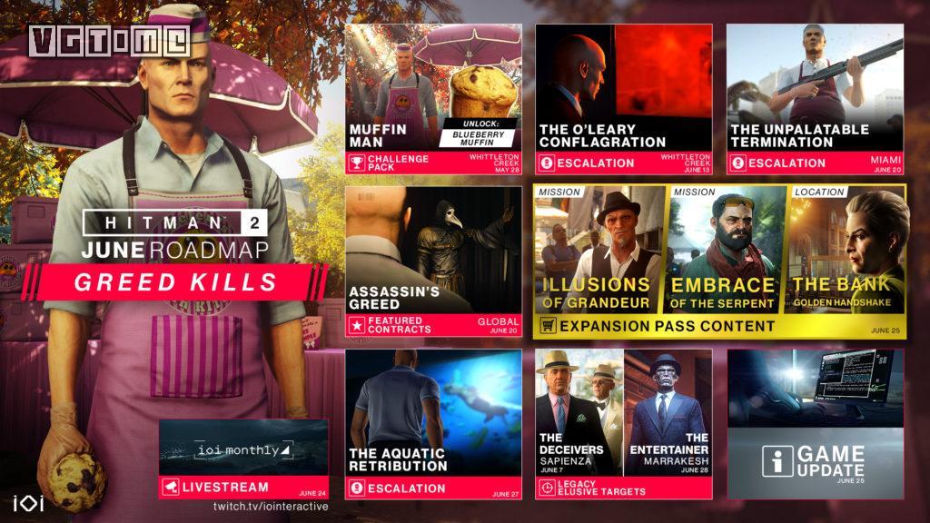 《杀手2》6.25推出新战役任务 光头大闹美国银行