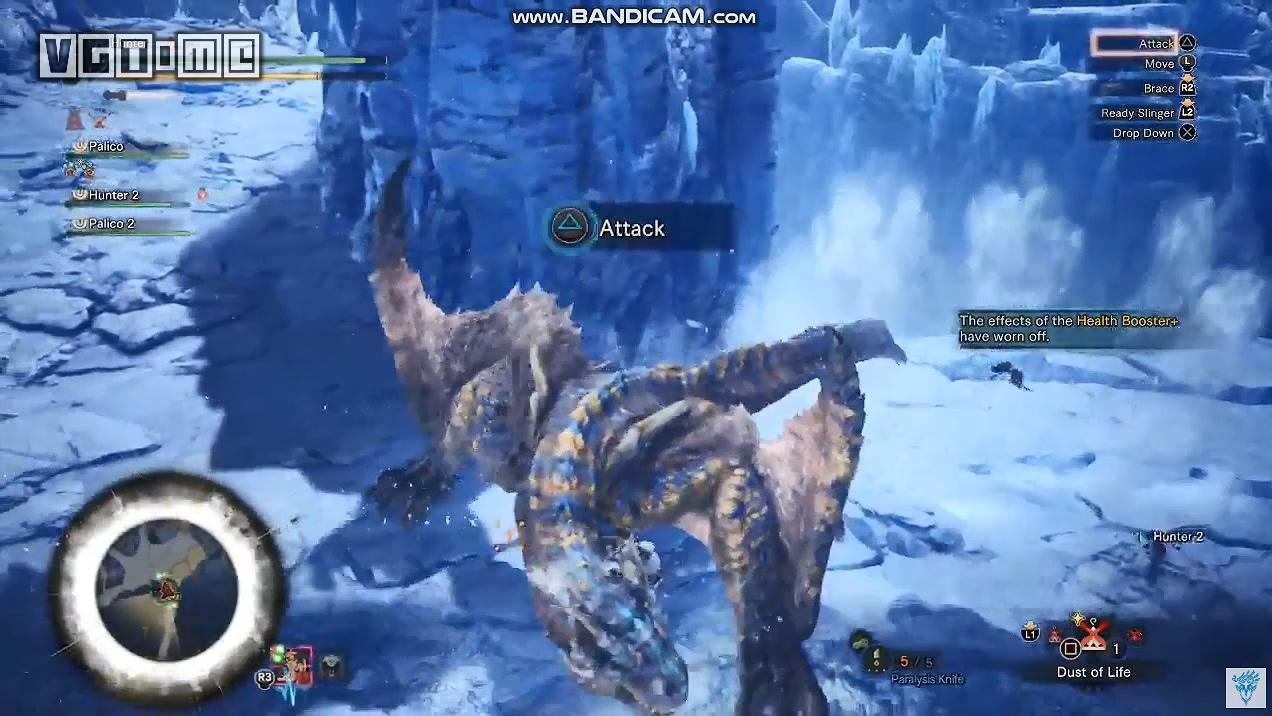 《怪物猎人 世界:冰原》轰龙狩猎演示,飞翔爪并非无敌