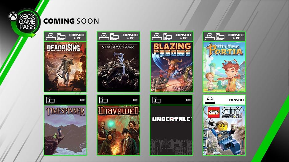 7月XGP新增游戏:《中土 战争之影》《丧尸围城4》等