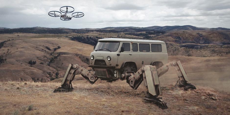 赛博朋克「俄罗斯2077」概念艺术图