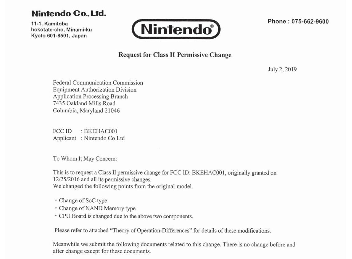 任天堂将更新原版Switch的CPU和闪存组件