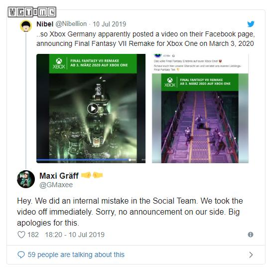 Square Enix:《最终幻想7 重制版》没有登陆PS4以外平台的计划