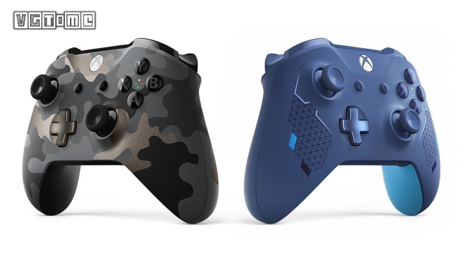 Xbox推出全新「暗夜行动」「运动蓝」配色手柄