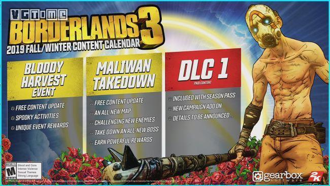 《无主之地3》公布发售后计划 免费活动十月到来