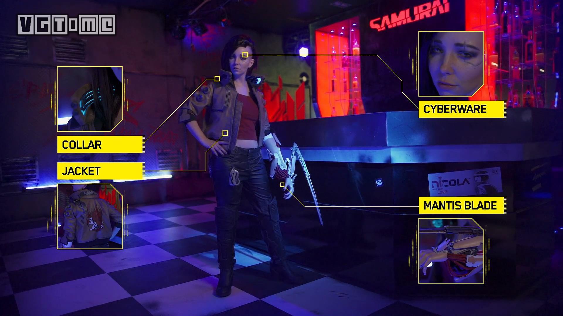 《赛博朋克2077》官方cosplay比赛的获胜者展示,服化道可太棒了