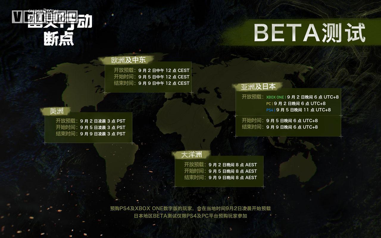 《幽灵行动:断点》Beta测试9月5日正式启动