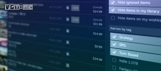 Steam实验室推出新版搜索:增加了新的筛选项