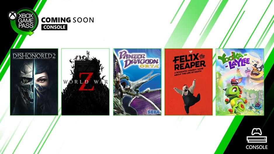 十月首批主机XGP游戏:《耻辱2》《僵尸世界大战Z》领衔