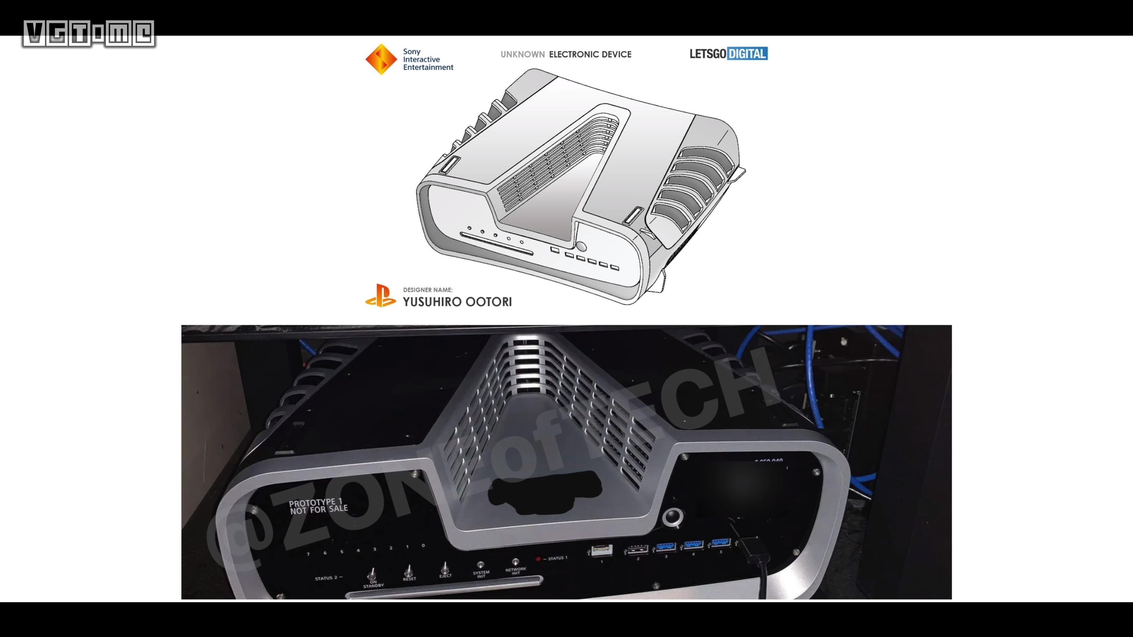 PS5开发机实机照片泄露,与专利图一致