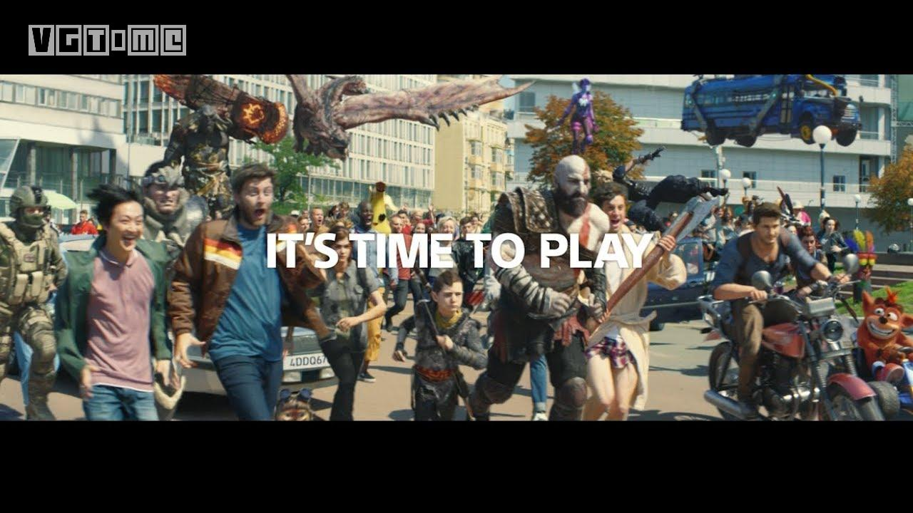 PS4's latest advertising: big brands gather, it's time to play!