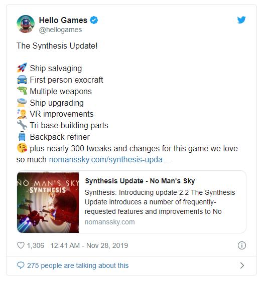 《无人深空》再迎免费大更新 增加多个新功能与新内容