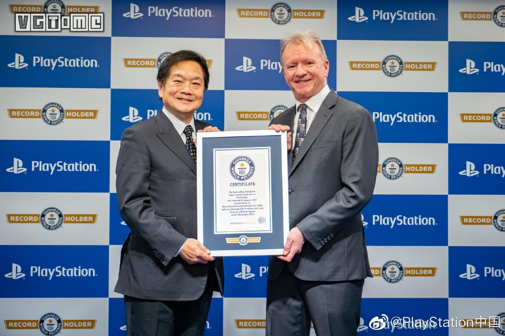 "PlayStation获""有史以来最畅销家用游戏主机品牌""认证"