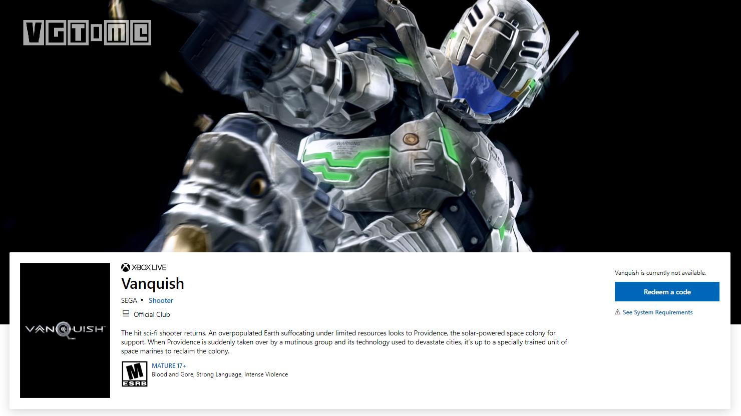 三上真司《征服》高清版现身Xbox商店 支持4K/60帧