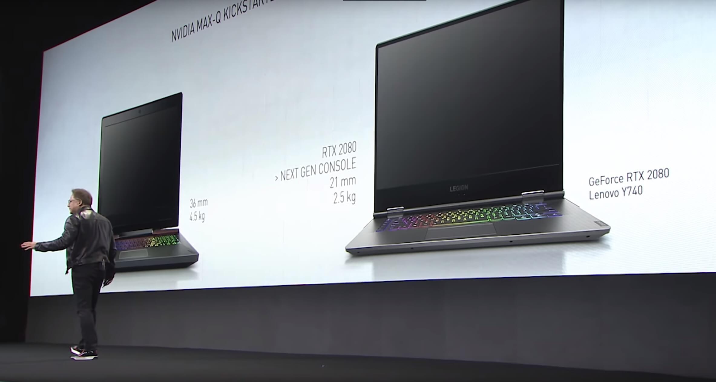 英偉達宣稱筆記本的2080MAX-Q比次世代主機GPU更強