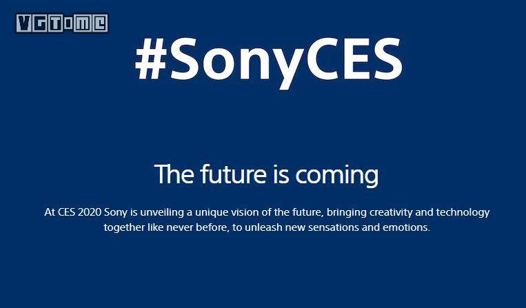 索尼CES 2020發布會將于1月7日舉行