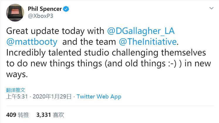 Spencer hinted at Microsoft's first new work: old and new