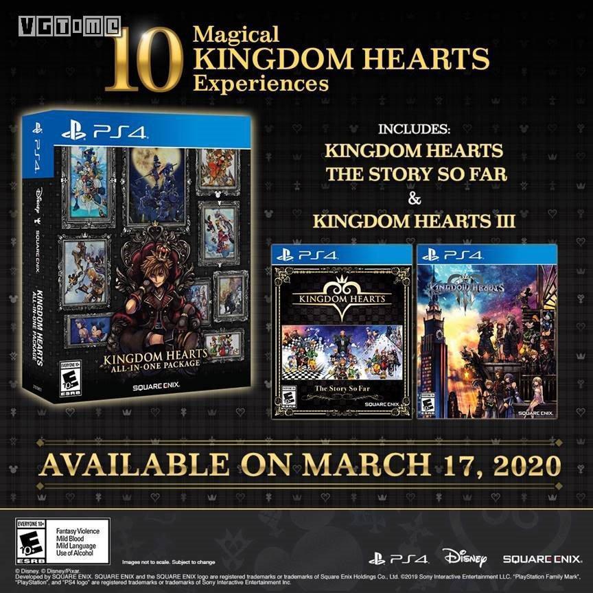 《王国之心》十合一大礼包公布 3月17日登陆PS4