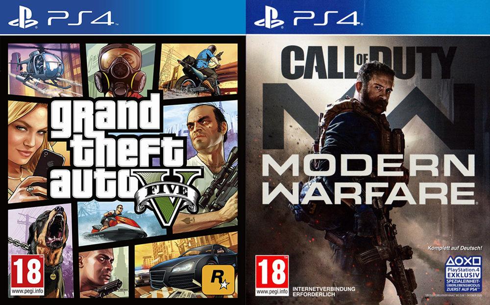 PSN欧美服1月下载榜:还是《GTA5》和《使命召唤 现代战争》