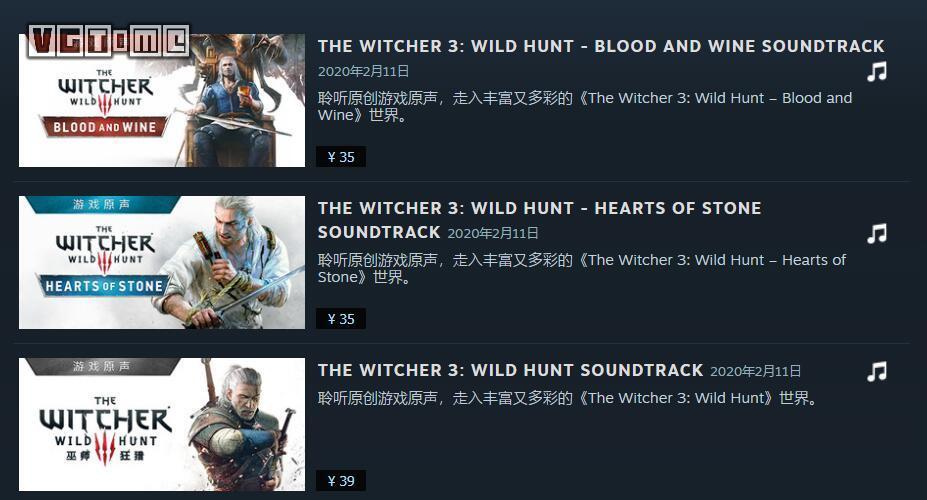 重温经典旋律,《巫师3》原声音乐上架STEAM