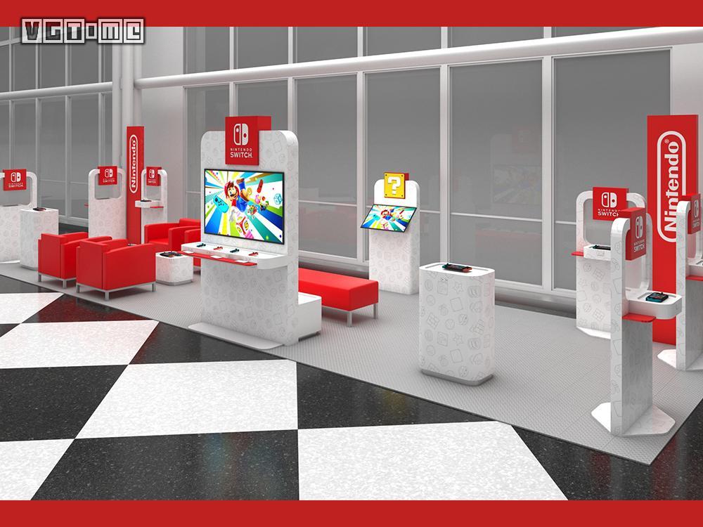 任天堂在美国多个机场推出Switch候机体验室
