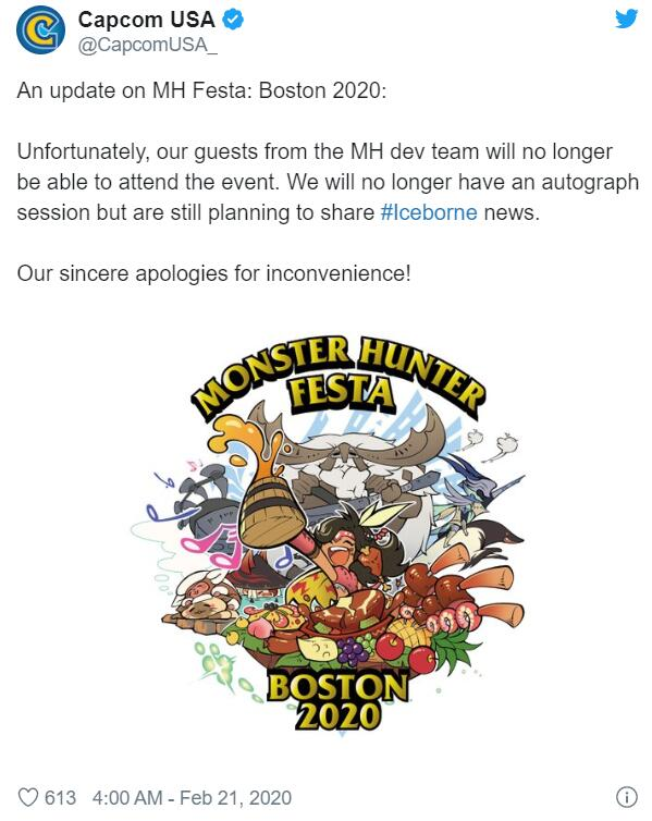 Affected by the epidemic, Capcom and Se cancelled some Pax east field activities